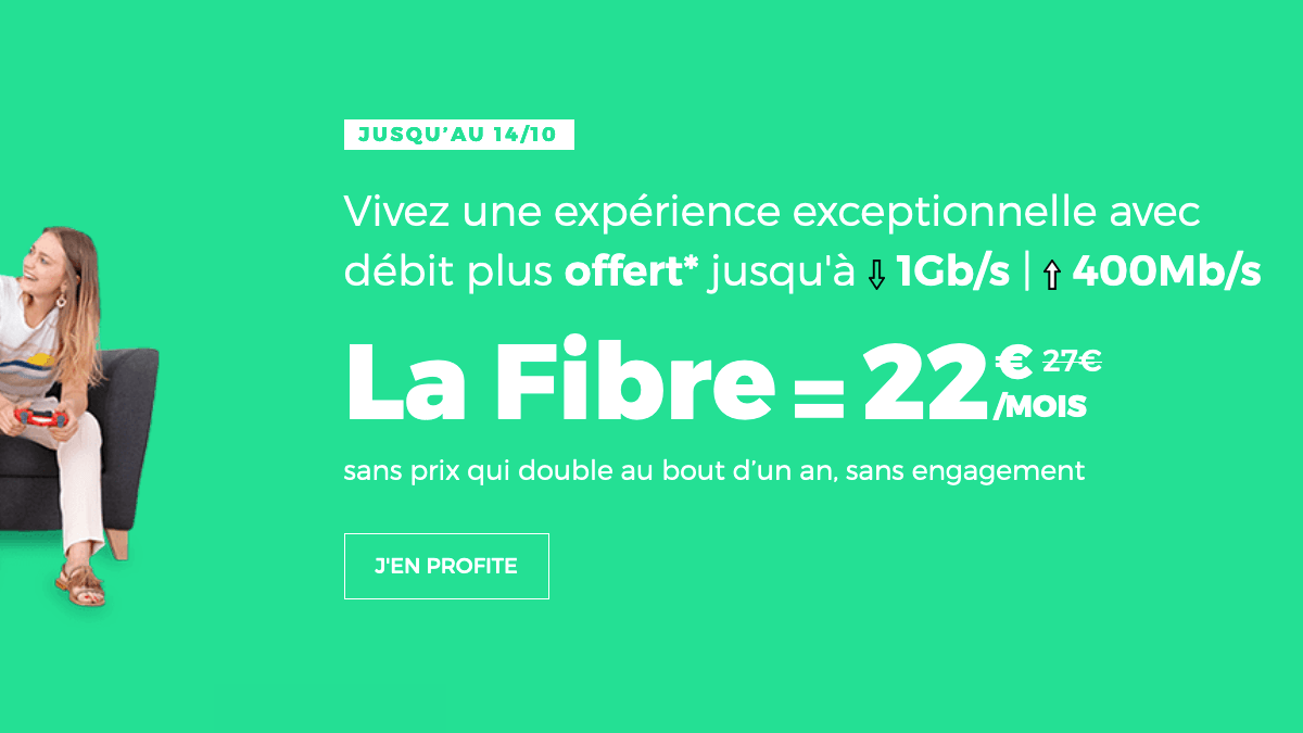 Box fibre optique promotion RED by SFR.