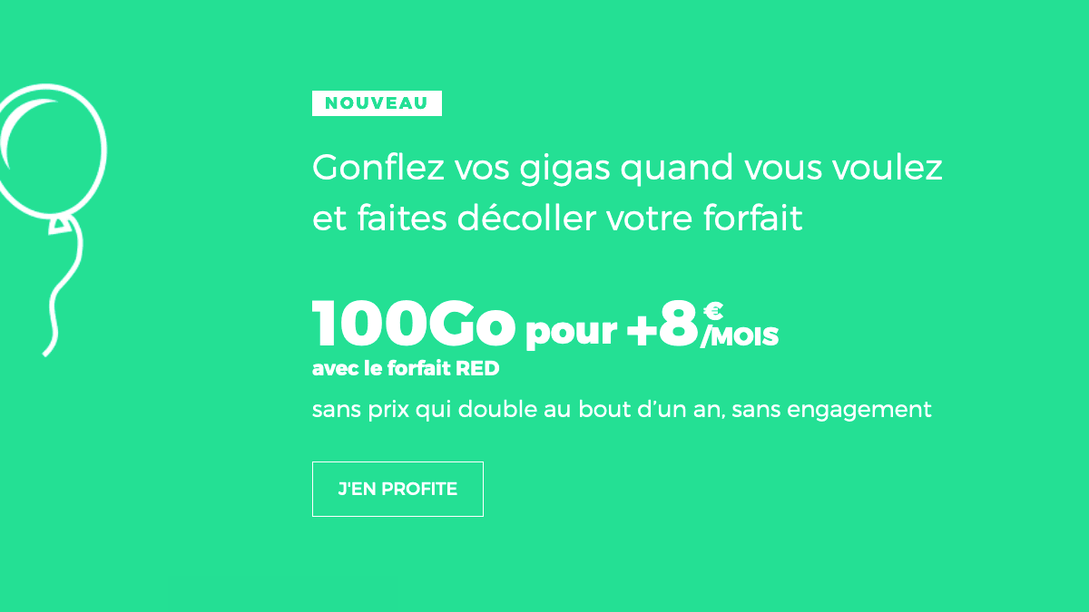 Forfait mobile 100 Go RED by SFR.