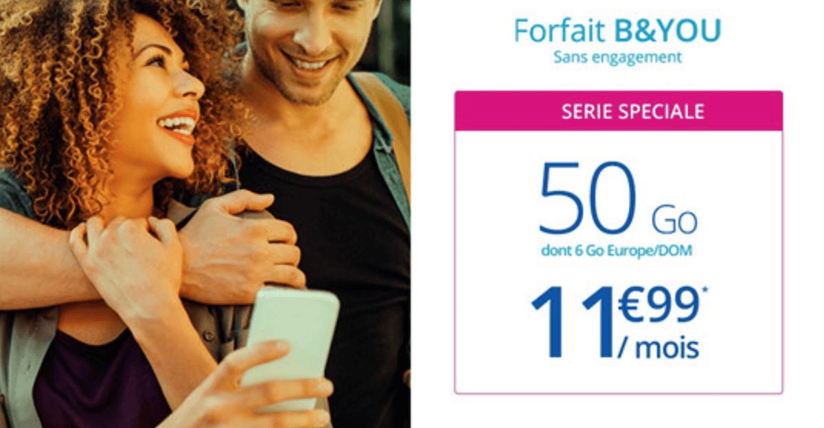 50 Go de données mobiles en promotion pour 11,99€/mois