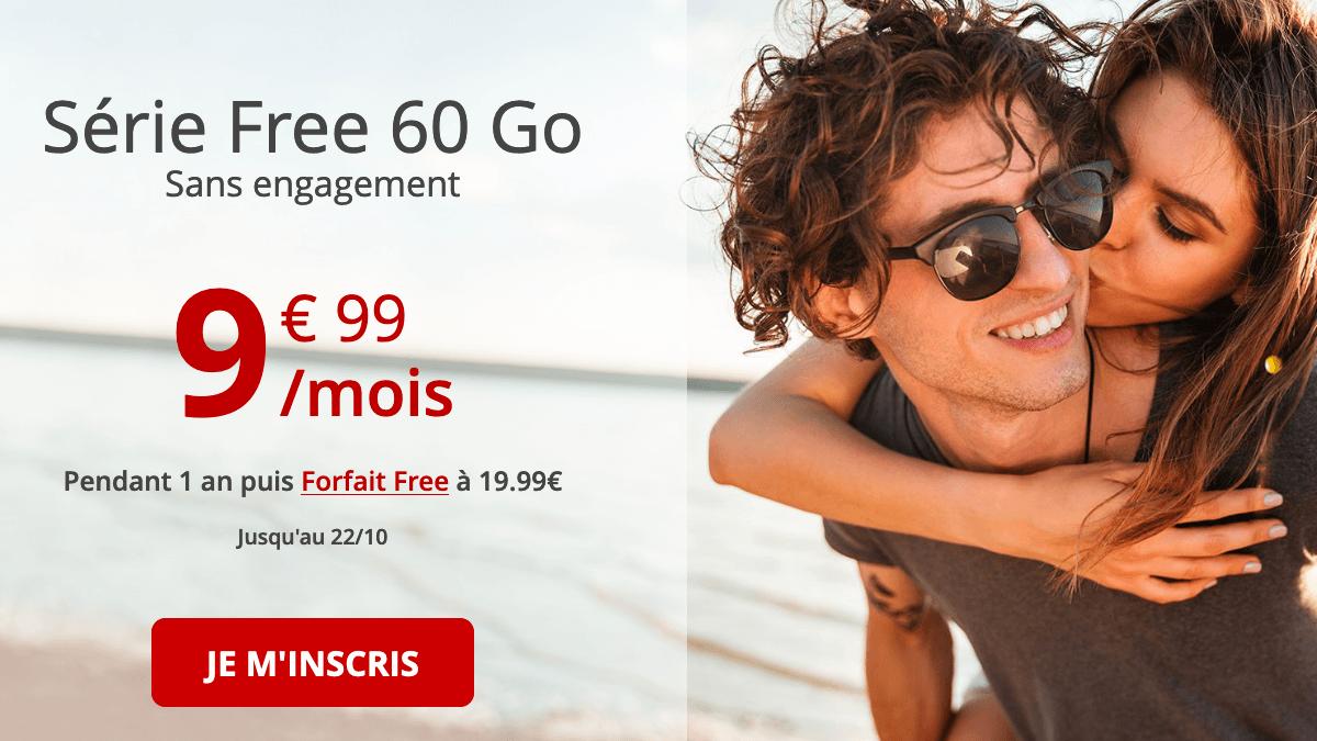 Série Free 60 Go Forfait 4G Free prolongé.