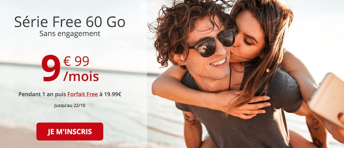 La série spéciale Free mobile à 9,99€/mois