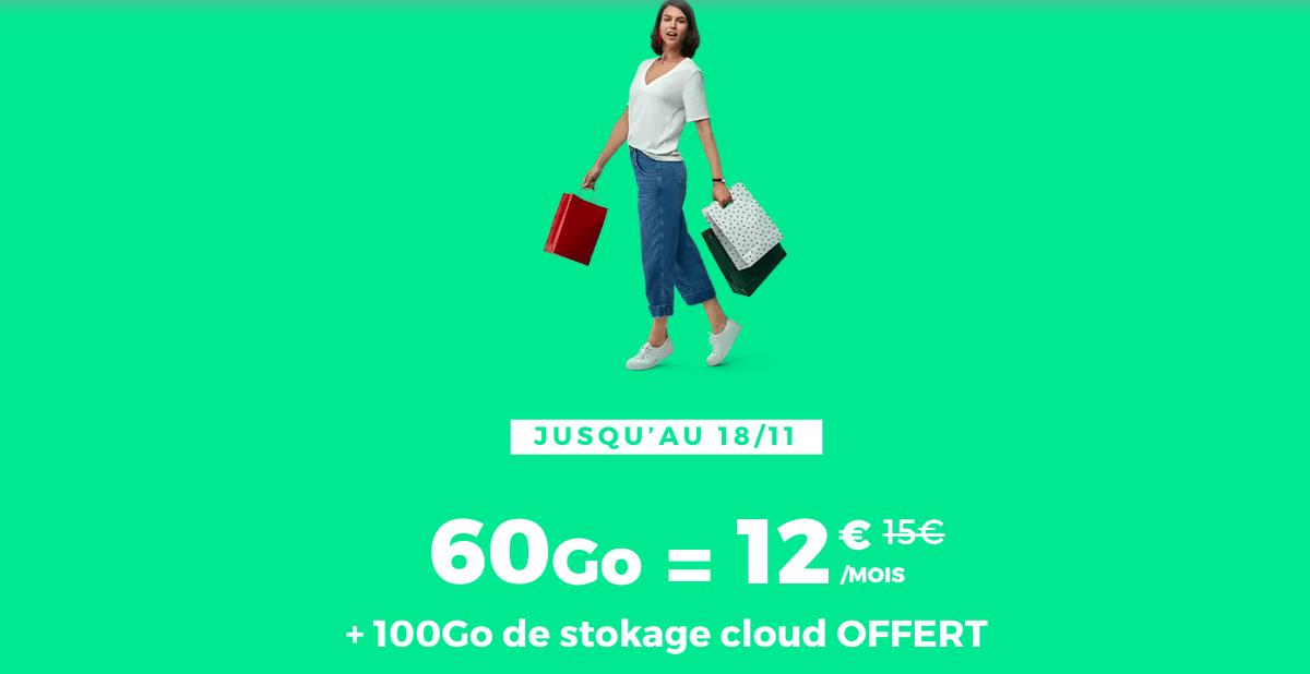 La promotion RED by SFR pour un forfait 4G à 12€/mois