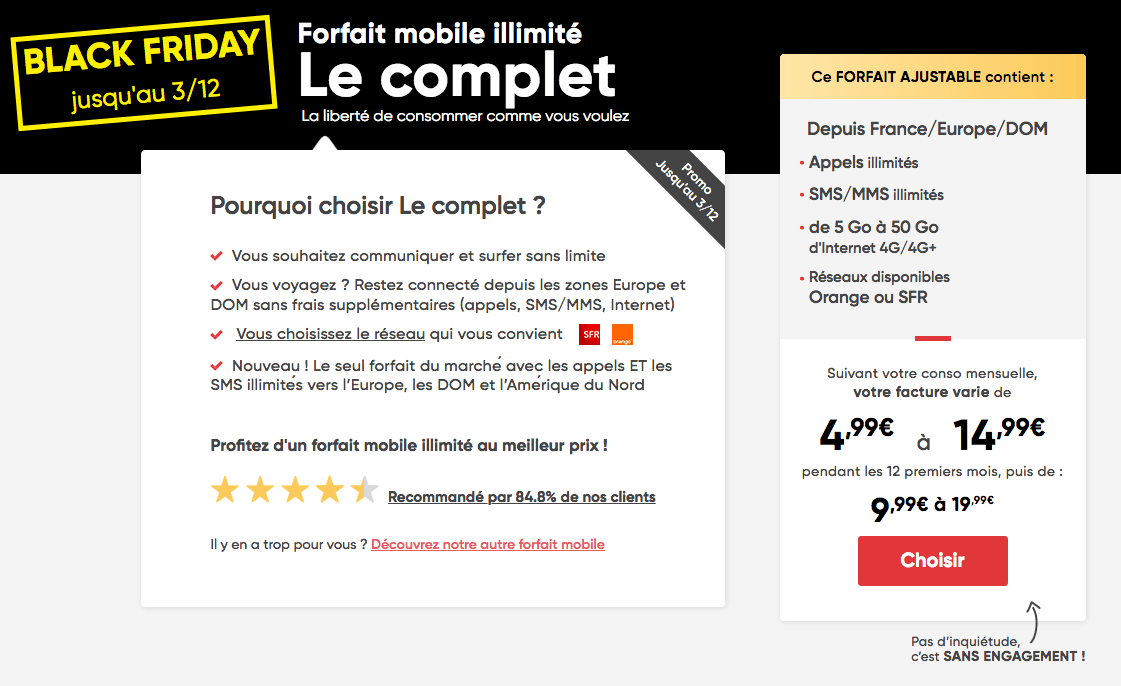 Le Black Friday de Prixtel