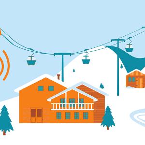 réseau mobile à la montagne.