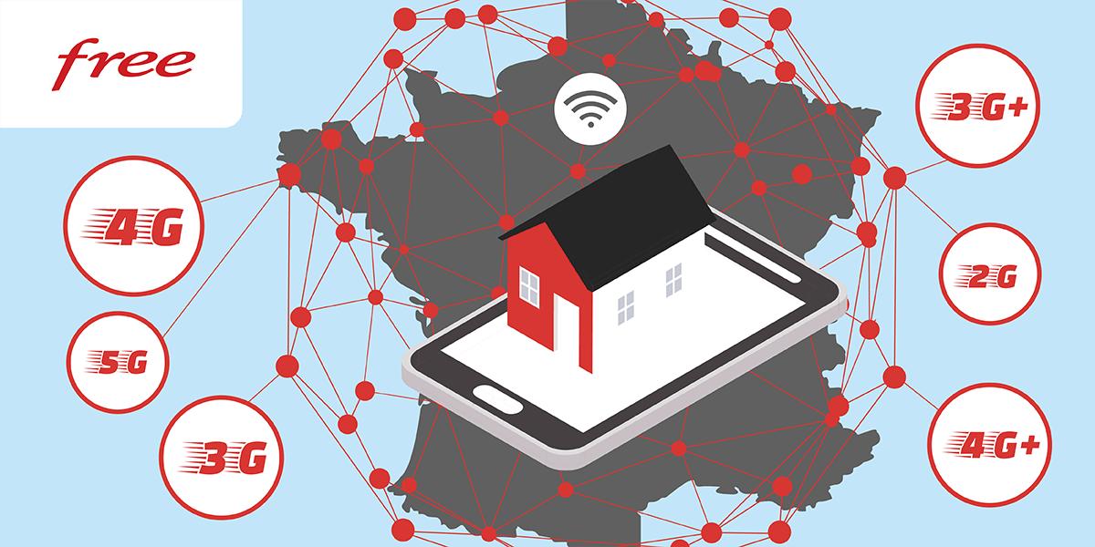 Free différents réseaux mobiles