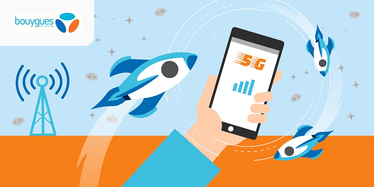 Le déploiement de la 5G chez Bouygues Telecom.