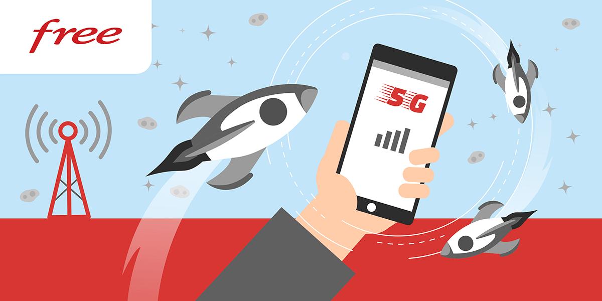 Apports de la 5G de Free.