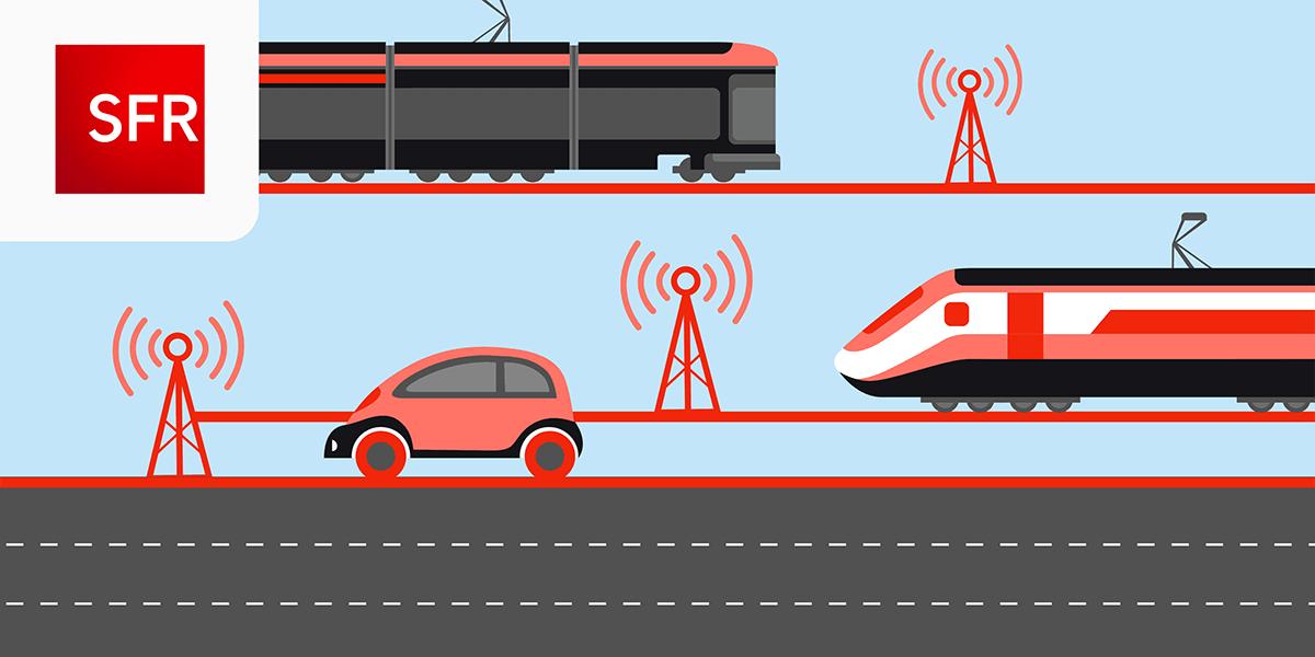 Couverture réseau SFR transports