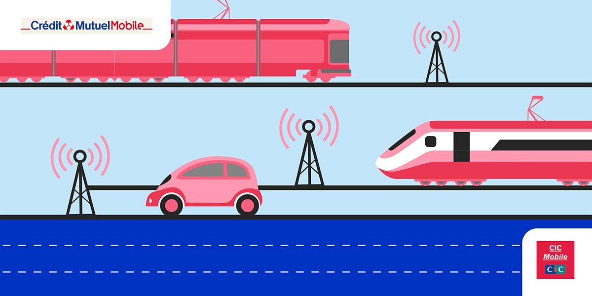 Réseau CIC - Crédit Mutuel Mobile dans les transports