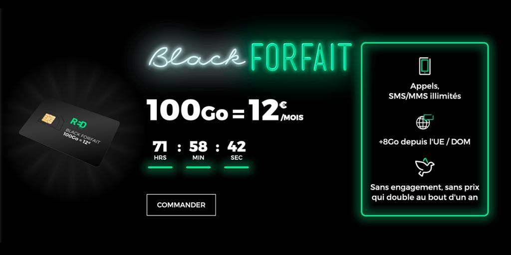 Un forfait RED pour 12€/mois à vie pendant le Black Friday