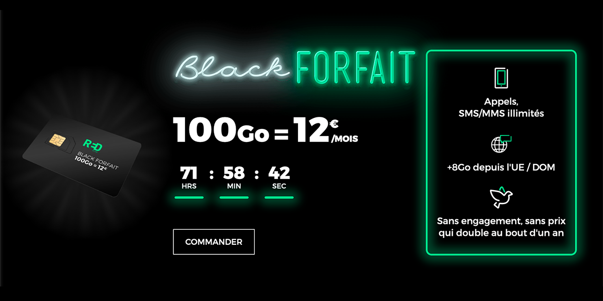Forfait Black Friday RED by SFR