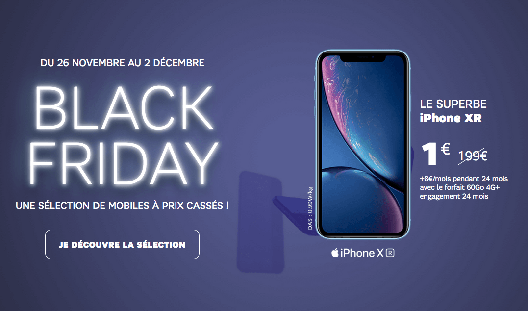 iPhone XR avec SFR