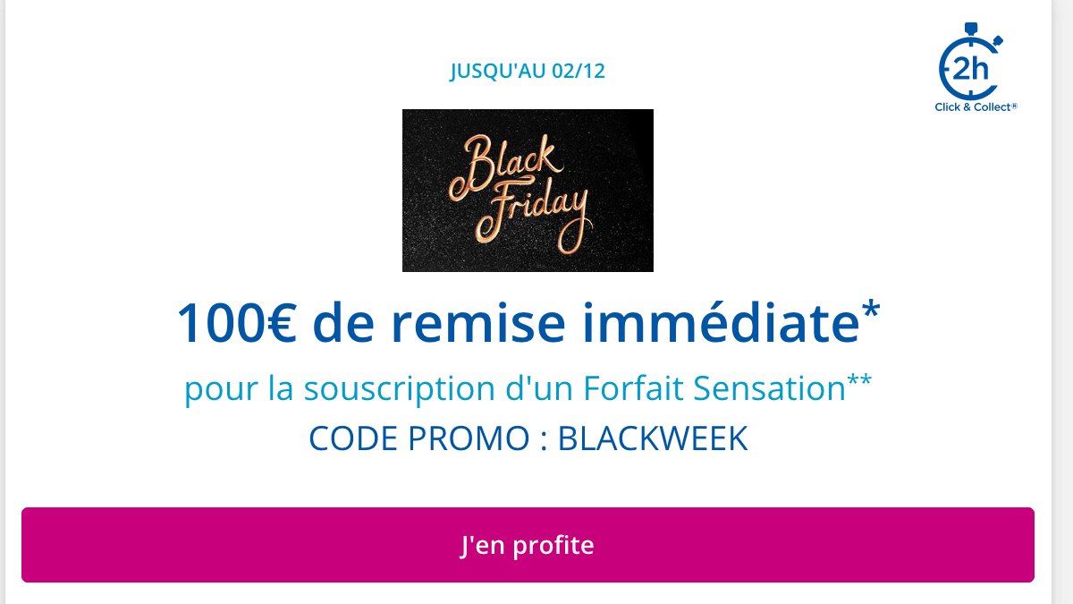 Promo Black Friday Bouygues Telecom.