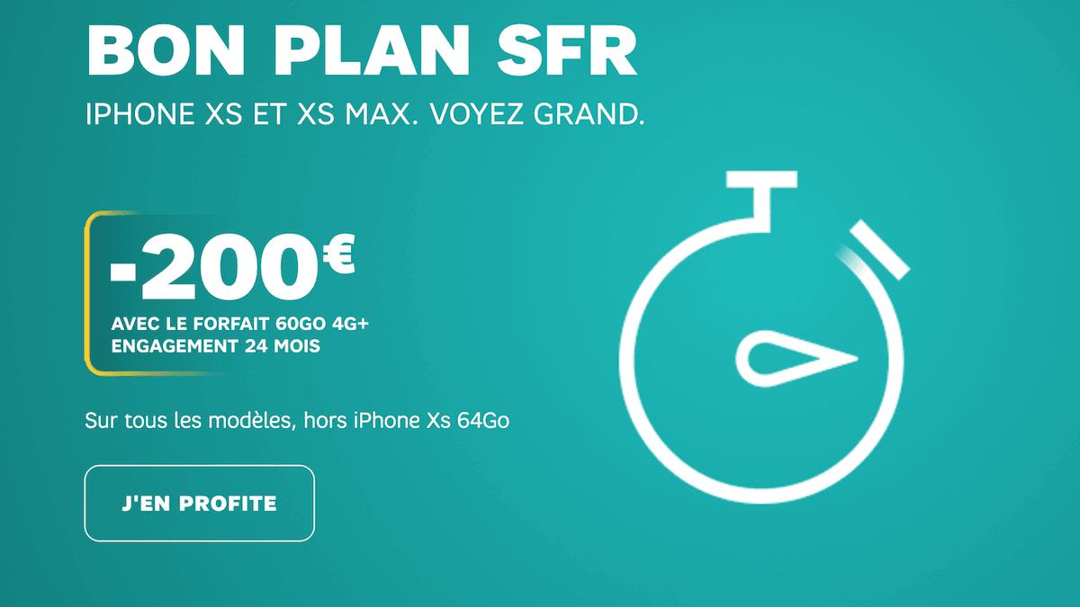 La bon plan SFR du moment pour un smartphone à prix