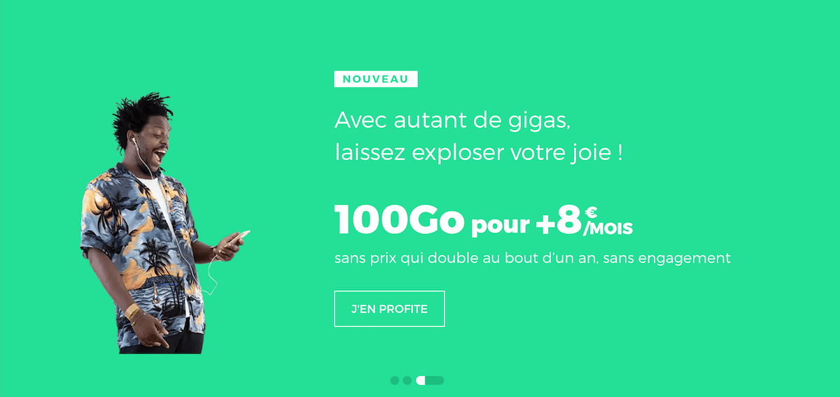 Les promos sur 100 Go de data de RED by SFR