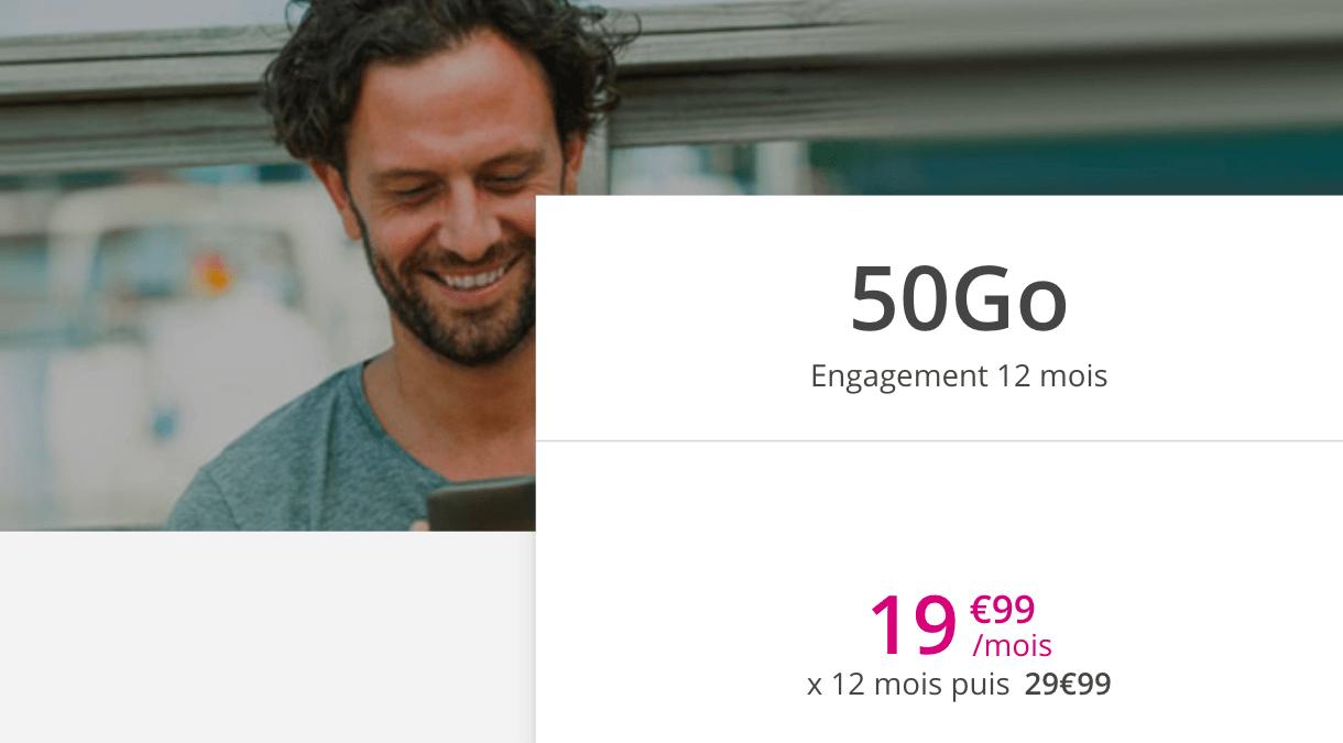 La proposition de Bouygues Telecom pour un forfait pour smartphone