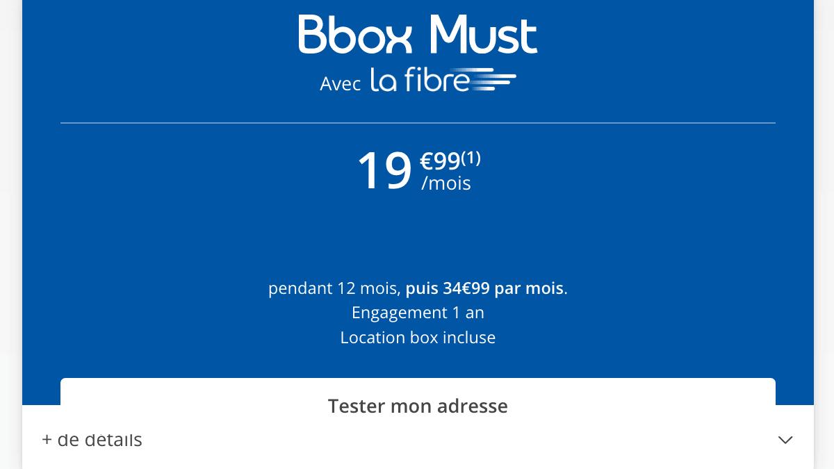 Box fibre optique en promotion chez Bouygues Telecom.