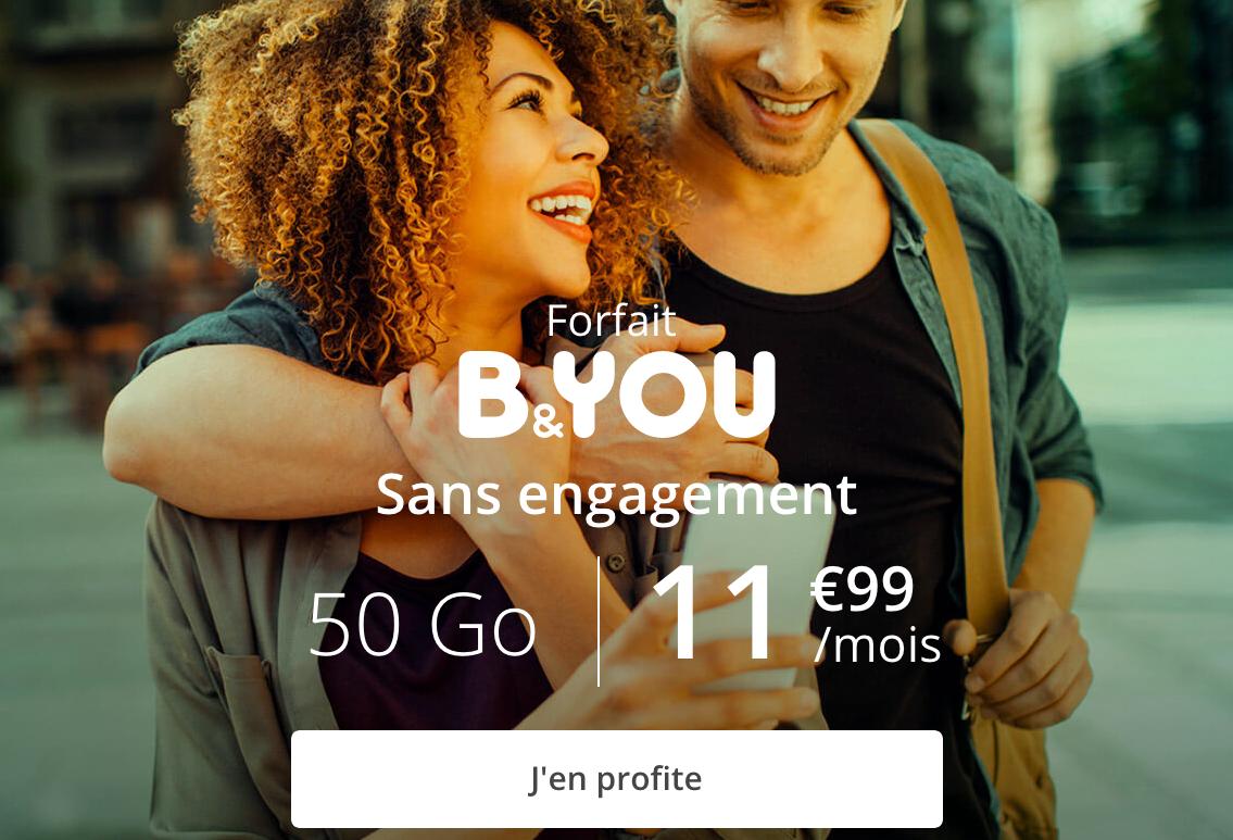 Le forfait B&YOU 50 Go