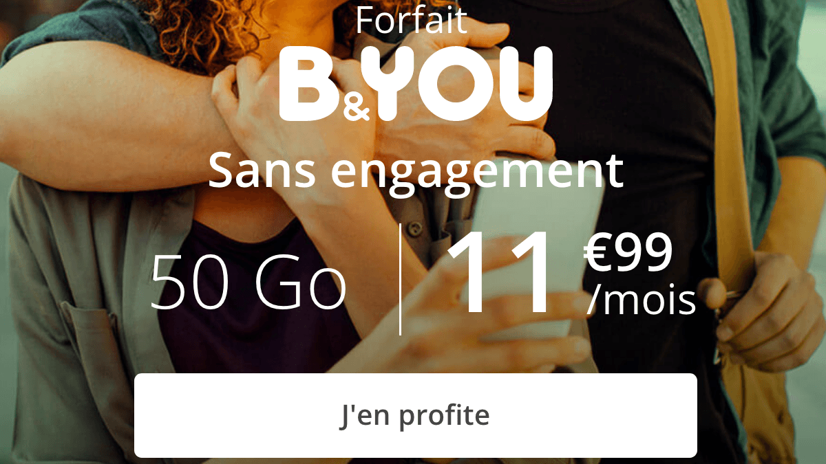 B&yOU 50 Go en promo à 11,99€