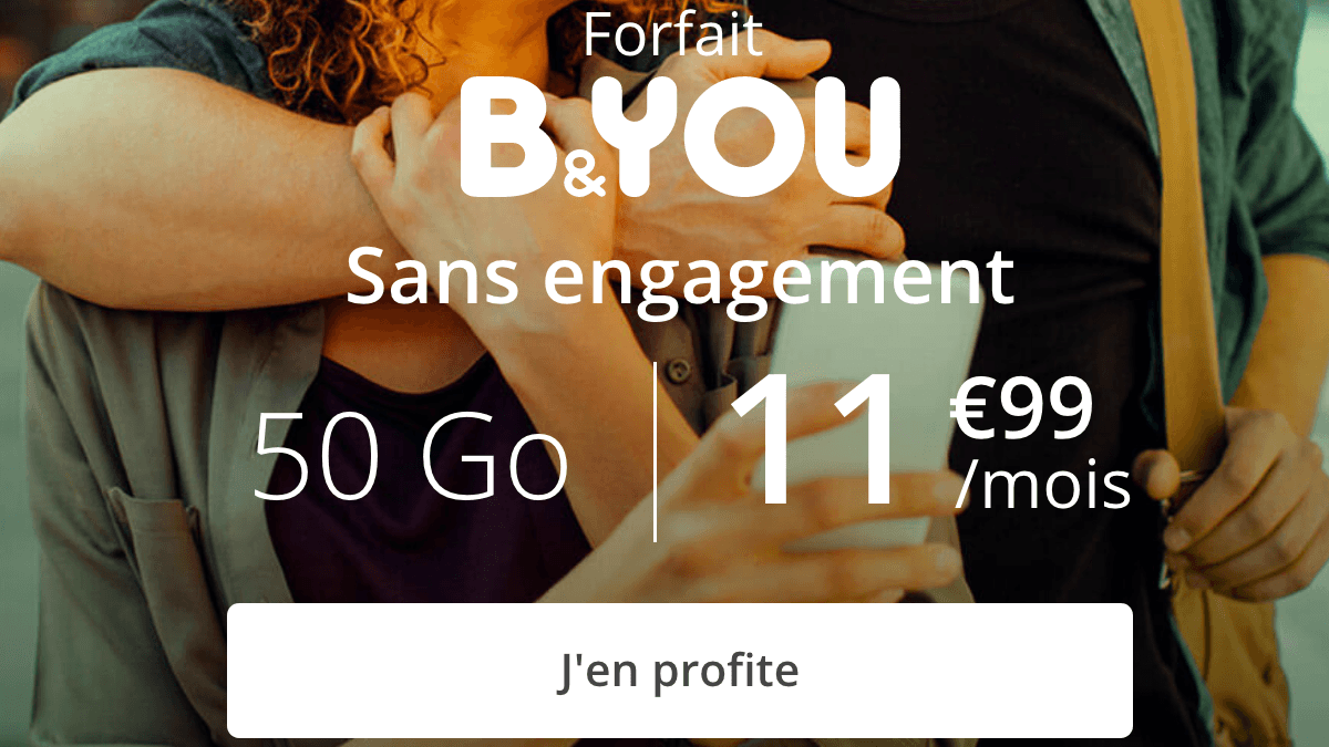 B&YOU promotion forfait 4G.