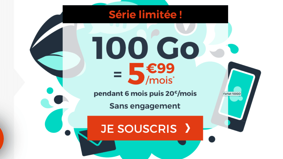 Cdiscount Mobile forfaits pas chers.