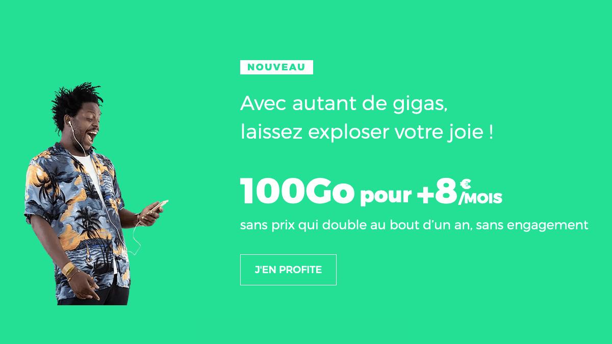 Forfait 4G 100 Go promo.