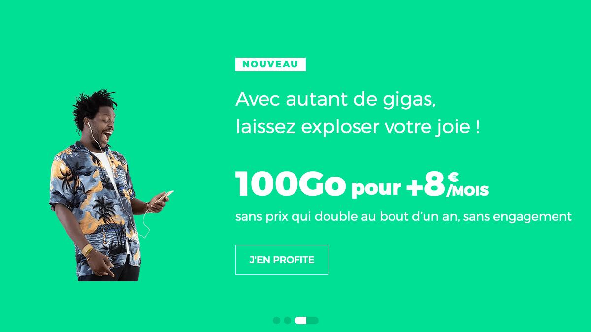 Forfait 100 Go en promo chez RED by SFR.