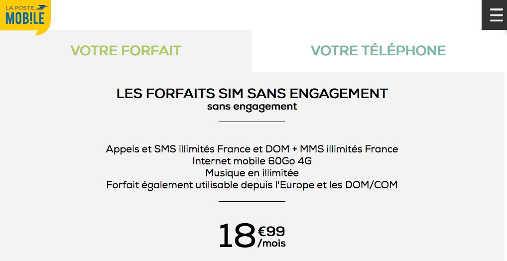 forfait 4G La Poste Mobile