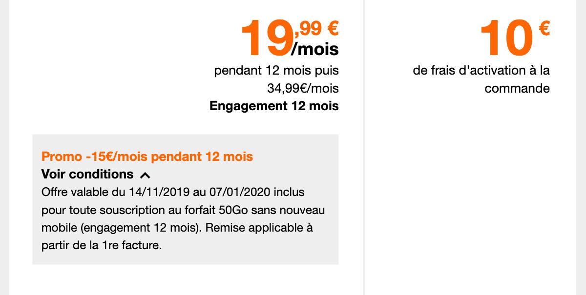 La proposition d'Orange pour un forfait 4G à prix réduit