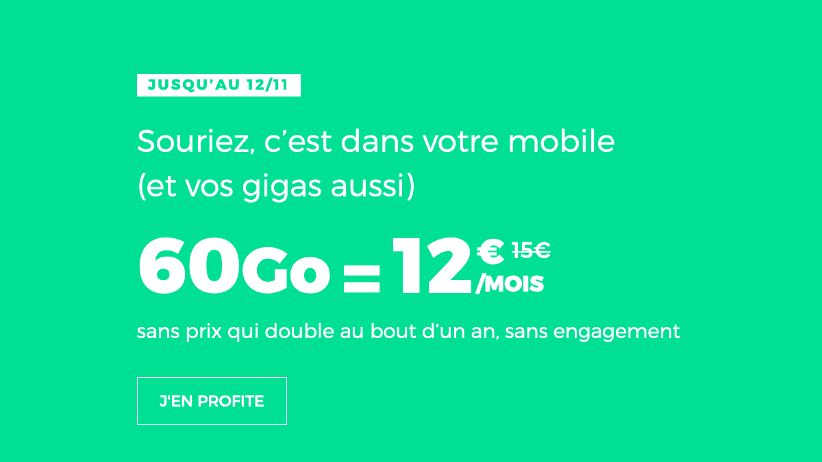 Forfait mobile 4G en promo chez RED by SFR.