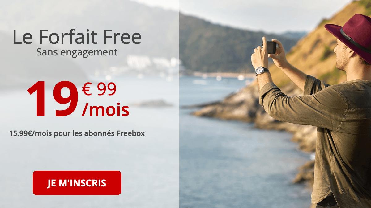Forfait mobile en promo chez Free.