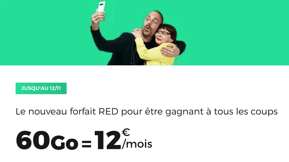 Le forfait en promo de RED by SFR avec 60 Go de données mobiles