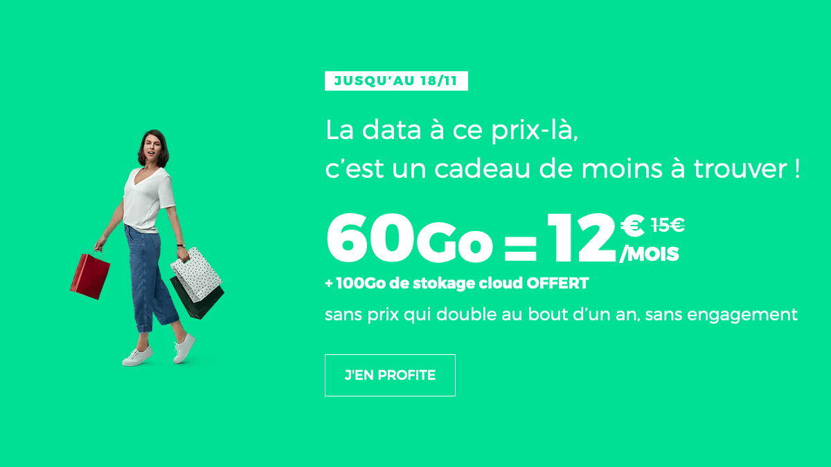 Promo forfait mobile 60 Go RED by SFR.