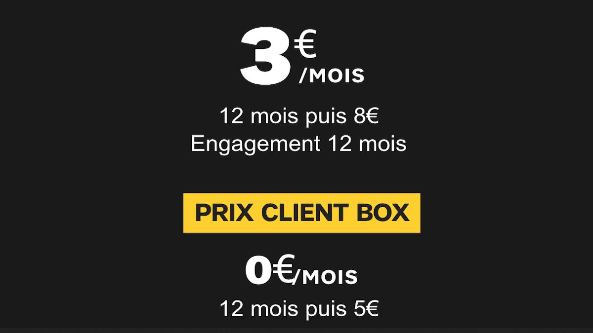 Le forfait le moins cher de SFR à 3€ par mois avec engagement