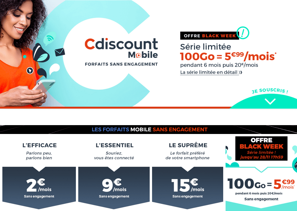forfait black friday cdiscount
