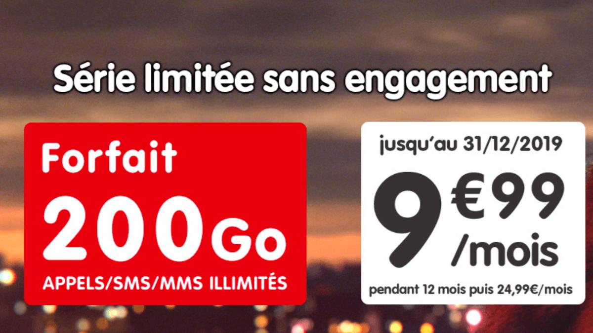 Le forfait 200 Go proposé actuellement en promotion par NRJ Mobile