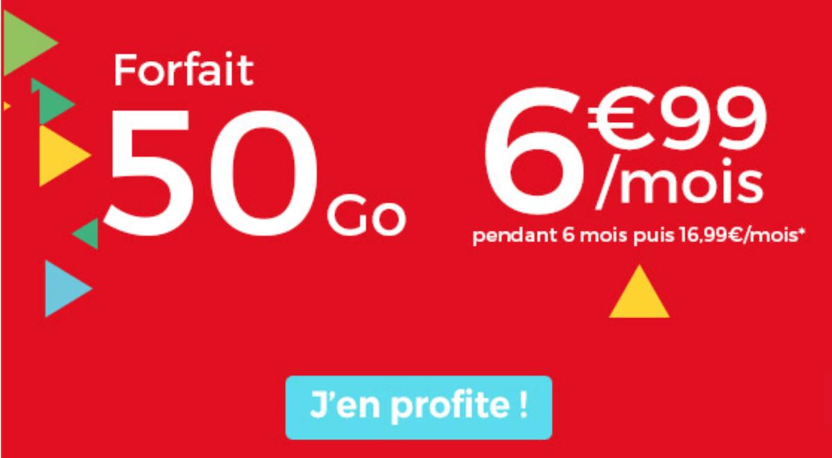 L'offre promotionelle de Auchan Telecom pour son forfait 50 Go