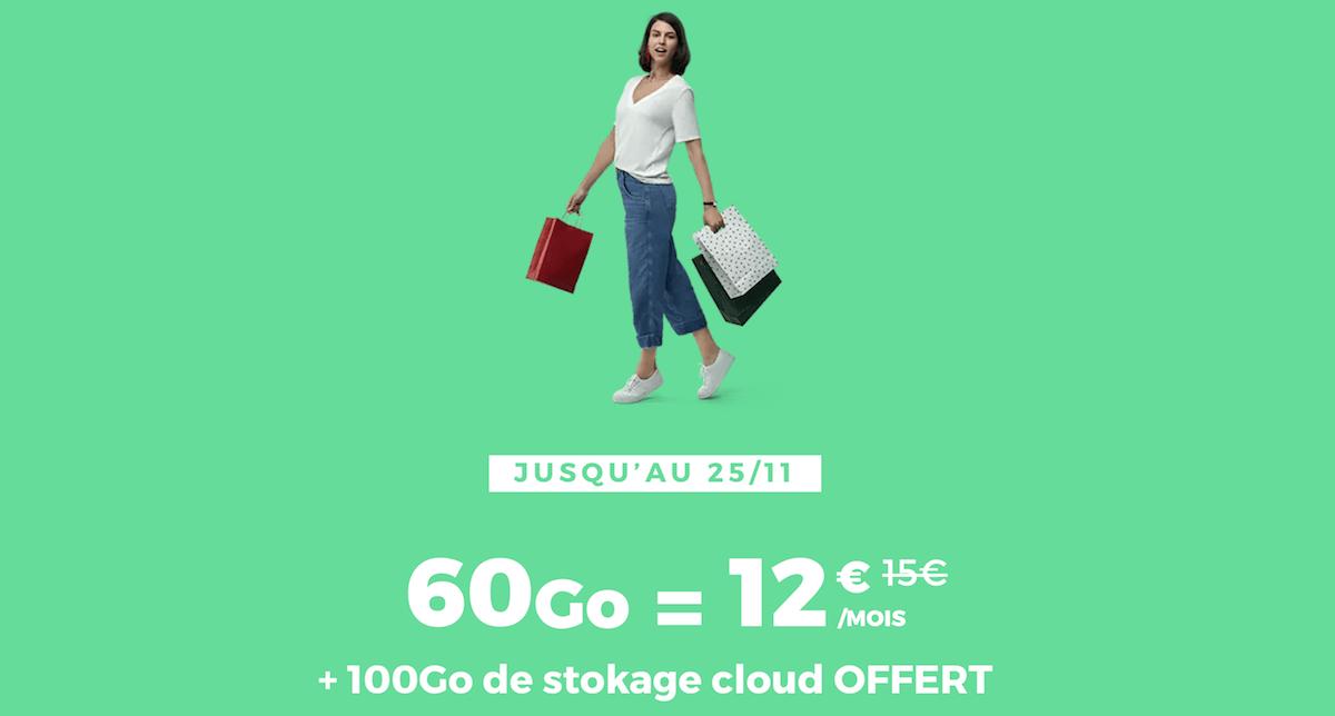 L'offre 60 Go de RED by SFR à 12€/mois