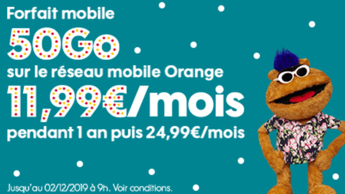La promotion attractive de Sosh pour 50 Go de data