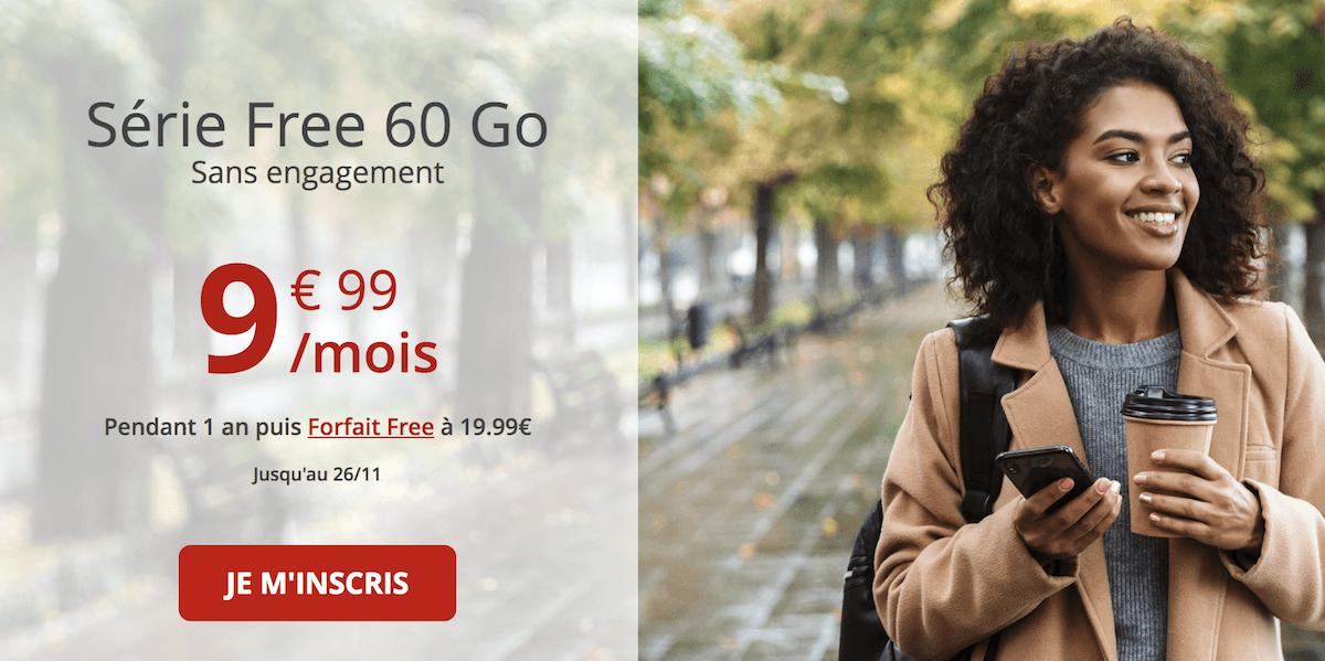 Un autre forfait en promo avec 60 Go de data pour moins de 10€/mois