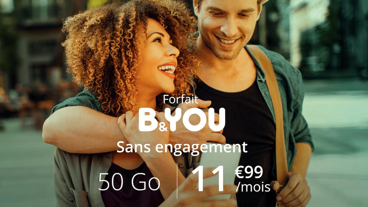 Le bon plan B&YOU pour un forfait 60 Go en promo