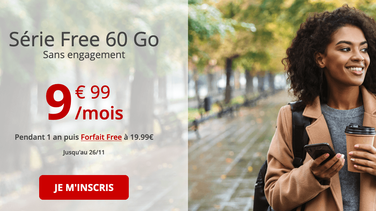 Série Free 60 Go en promotion;