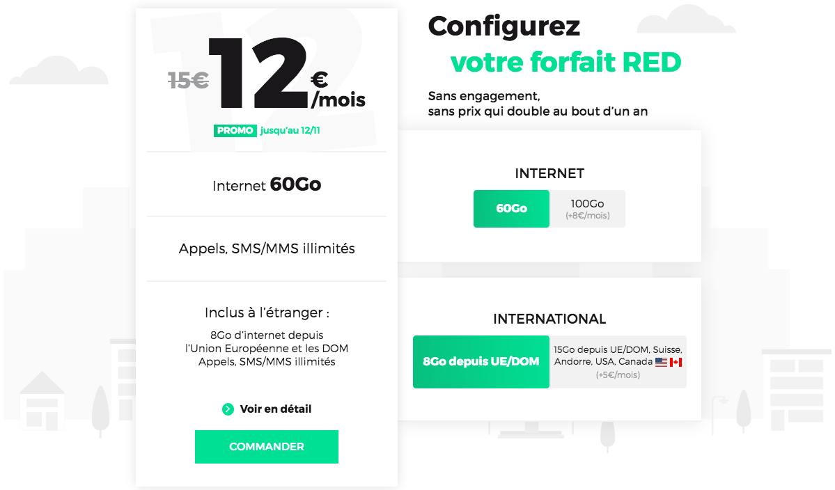 le forfait sans engagement de RED by SFR