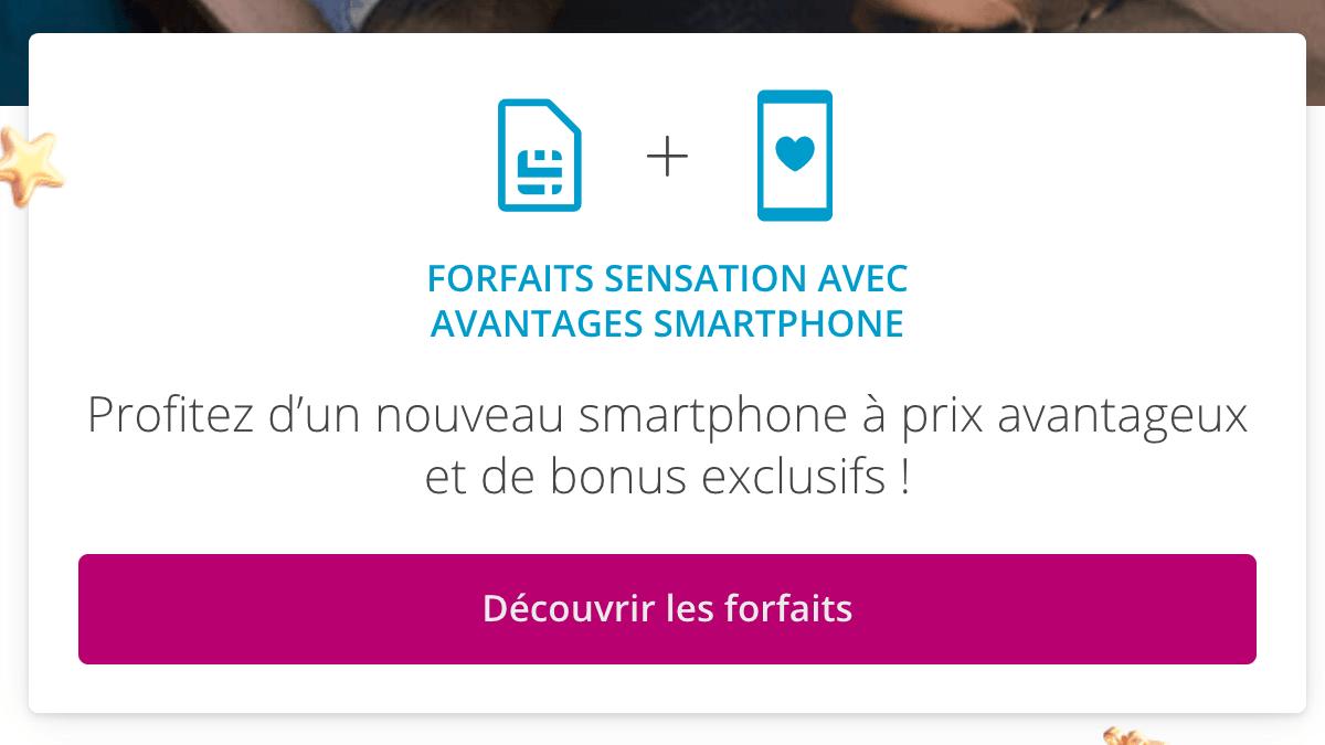 Forfait mobile Sensation avec iPhone XR.