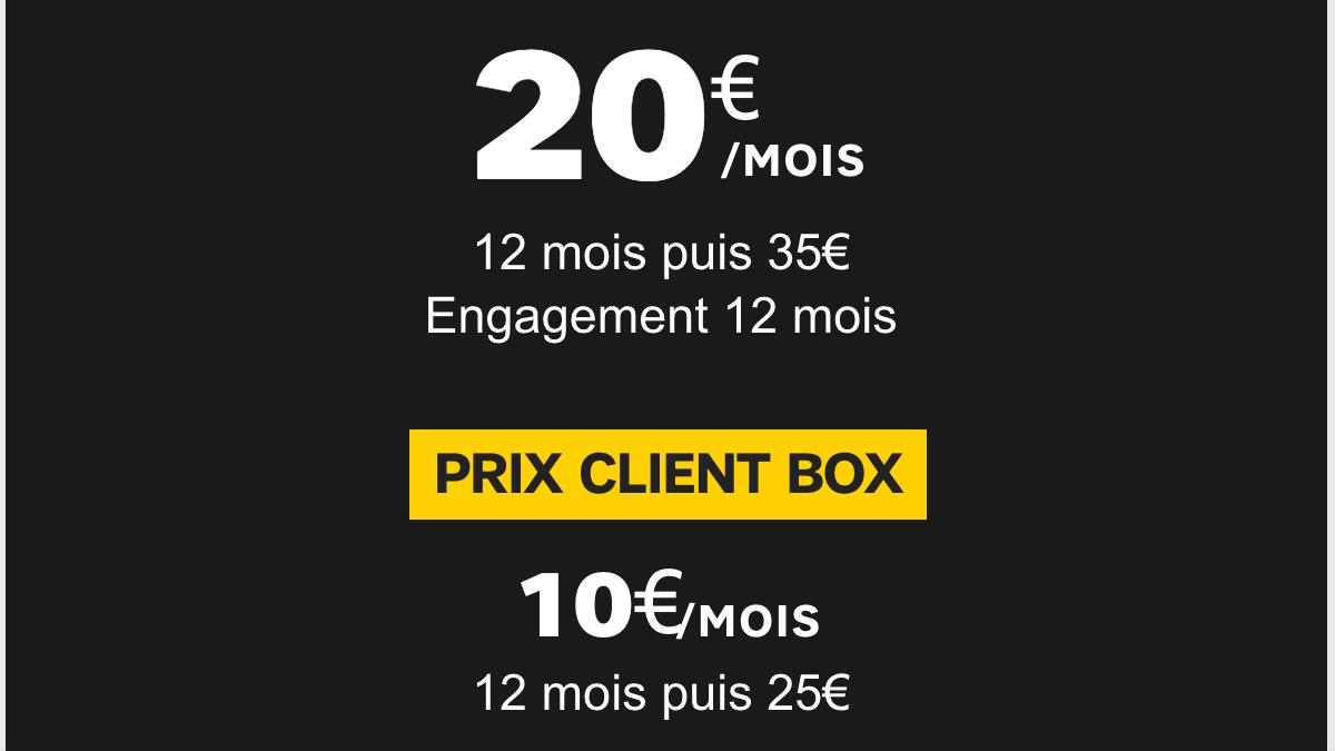 Un second forfait SFR à 20€/mois