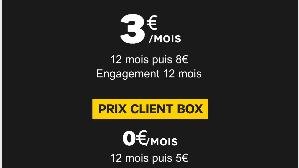 Un premier forfait SFR à seulement 3€/mois