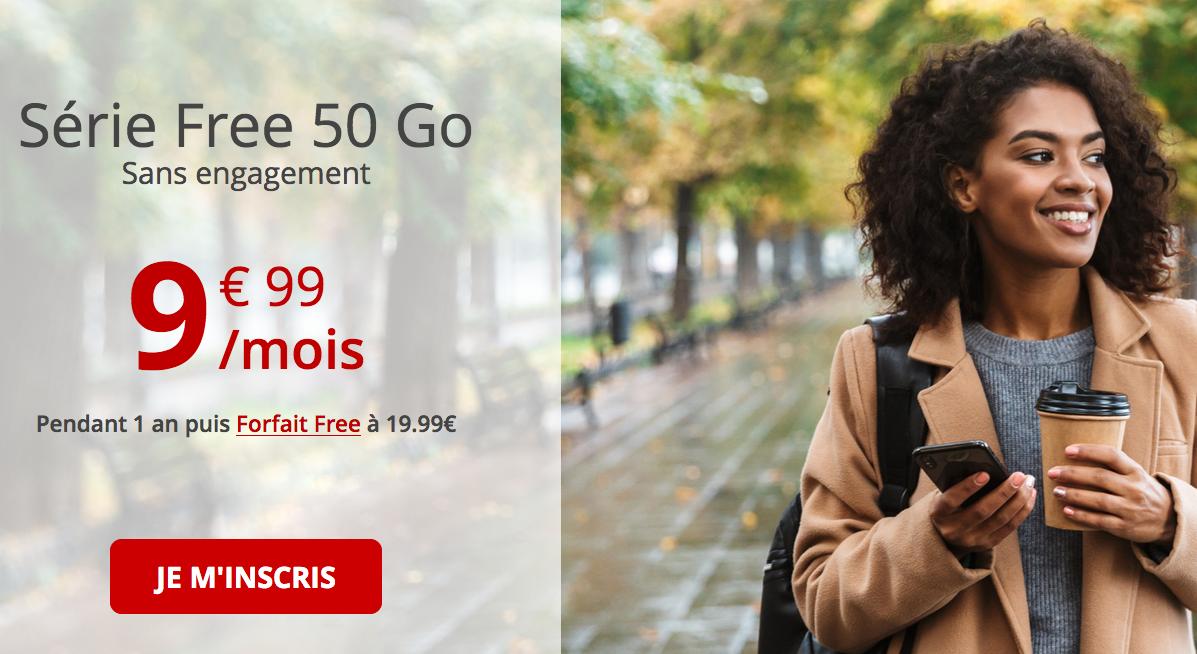 la série spéciale de Free 50 Go