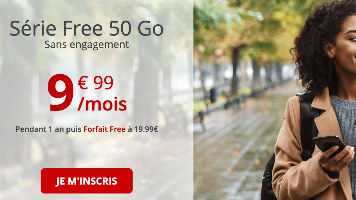 Forfait Série Free 50 Go promo.