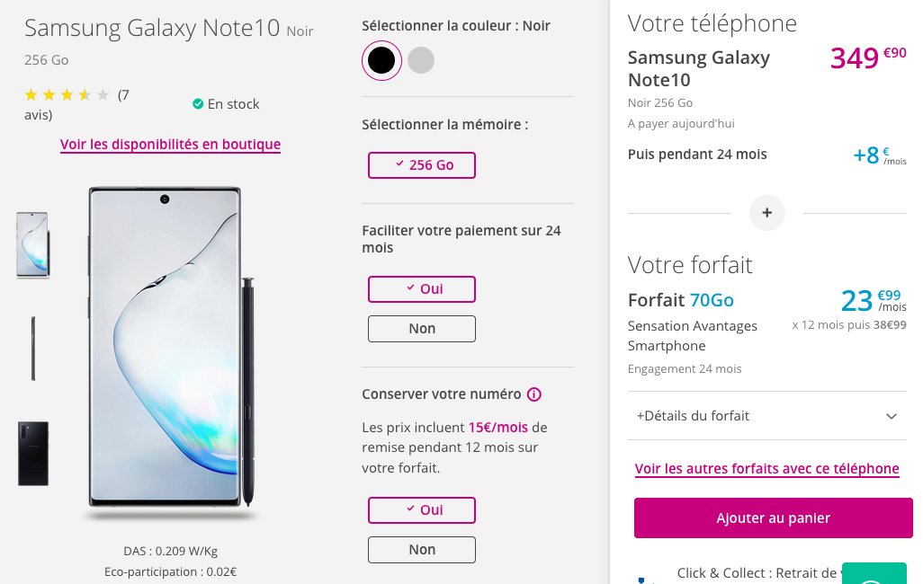 Samsung Galaxy Note10 Bouygues