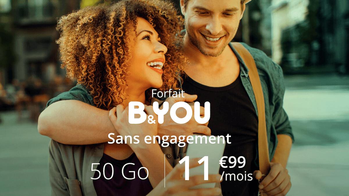 La promotion B&YOU pour un forfait 50 Go